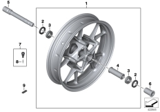 Goto diagram: BMW Classic Motorbike Model S 1000 RR 10 (0507,0517)( ECE ), Category 36.31 Cast rim, front :: Diagram: 36_1423