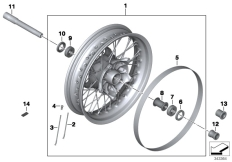Goto diagram: BMW Classic Motorbike Model R nineT (0A06, 0A16)( USA ), Category 36.31 SPOKE WHEEL FRONT :: Diagram: 36_1600