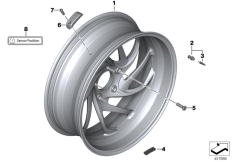 Goto diagram: BMW Classic Motorrad Modell K 1600 GT 17 (0F01, 0F11)( ECE ), Category 36.31 Cast wheel, RDC, rear :: Diagram: 36_1629