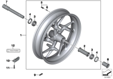 Goto diagram: BMW Classic Motorbike Model K 1600 GTL 17 (0F02, 0F12)( USA ), Category 36.31 Cast wheel, RDC, front :: Diagram: 36_1630