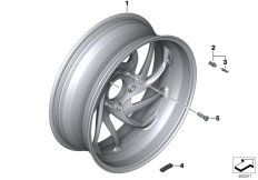 Goto diagram: BMW Classic Motorrad Modell K 1600 GT 17 (0F01, 0F11)( ECE ), Category 36.31 Cast rim, rear :: Diagram: 36_1633