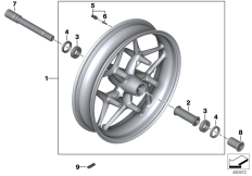 Goto diagram: BMW Classic Motorbike Model K 1600 GTL 17 (0F02, 0F12)( USA ), Category 36.31 Cast rim, front :: Diagram: 36_1634