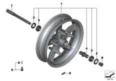 Goto diagram: BMW Classic Motorrad Modell C 650 Sport 16 (0C04, 0C14)( USA ), Category 36.31 Front wheel :: Diagram: 36_1726