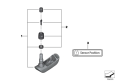 Goto diagram: BMW Classic Motorrad Modell R 900 RT 05 SF (0367,0387)( ECE ), Category 36.23 RDC sensor, rear wheel :: Diagram: 36_1738
