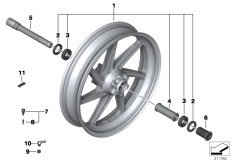 Goto diagram: BMW Classic Motorrad Modell HP4 (0D01, 0D11)( ECE ), Category 36.31 Forged wheel, front :: Diagram: 36_1756