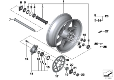 Goto diagram: BMW Classic Motorrad Modell HP4 (0D01, 0D11)( ECE ), Category 36.31 Forged wheel, rear :: Diagram: 36_1757