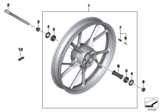 Goto diagram: BMW Classic Motorrad Modell F 700 GS 17 (0B06, 0B16)( USA ), Category 36.31 Cast rim, front :: Diagram: 36_1758