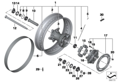 Goto diagram: BMW Classic Motorrad Modell F 800 GS Adve. (0B05, 0B15)( ECE ), Category 36.31 Spoke wheel, rear :: Diagram: 36_1759