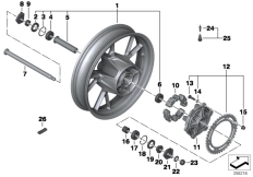 Goto diagram: BMW Classic Motorrad Modell F 700 GS 17 (0B06, 0B16)( USA ), Category 36.31 Cast rim, rear :: Diagram: 36_1760