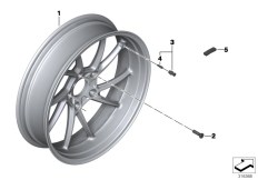 Goto diagram: BMW Classic Motorrad Modell R 1200 RS (0A05, 0A15)( USA ), Category 36.31 Cast rim, rear :: Diagram: 36_1768