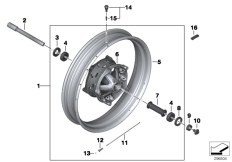 Goto diagram: BMW Classic Motorrad Modell R 1200 GS 17 (0A51, 0A61)( USA ), Category 36.31 SPOKE WHEEL FRONT :: Diagram: 36_1769