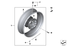 Goto diagram: BMW Classic Motorrad Modell R 1200 GS 17 (0A51, 0A61)( USA ), Category 36.31 Spoke wheel, rear :: Diagram: 36_1771