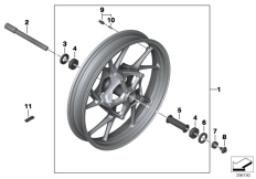Goto diagram: BMW Classic Motorrad Modell R 1200 R (0A04, 0A14)( ECE ), Category 36.10 Cast rim, front :: Diagram: 36_2024