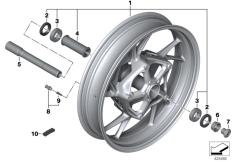 Goto diagram: BMW Classic Motorbike Model S 1000 XR (0D23)( BRA ), Category 36.31 Cast rim, front :: Diagram: 36_2144