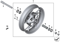 Goto diagram: BMW Classic Motorbike Model F 800 R 15 (0B34)( THA ), Category 36.31 Cast rim, front :: Diagram: 36_2149