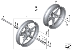 Goto diagram: BMW Classic Motorbike Model R nineT Racer (0J21, 0J23)( USA ), Category 36.10 Cast rim :: Diagram: 36_2298