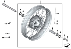 Goto diagram: BMW Classic Motorrad Modell R nineT Scrambler (0J31, 0J33)( USA ), Category 36.05 Cross-spoked wheel front :: Diagram: 36_2301