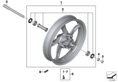Goto diagram: BMW Classic Motorrad Modell G 310 GS (0G02, 0G12)( USA ), Category 36.31 Front wheel :: Diagram: 36_2321