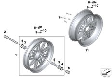 Goto diagram: BMW Classic Motorrad Modell K 1600 GT 17 (0F01, 0F11)( ECE ), Category 36.31 Forged wheels :: Diagram: 36_2450
