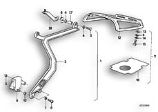 Goto diagram: BMW Classic Motorbike Model K 100 RS 83 (0502,0503,0513)( ECE ), Category 46.20 SET CASE HOLDER :: Diagram: 46S0109