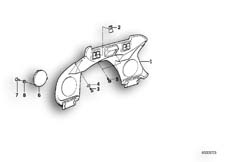 Goto diagram: BMW Classic Motorbike Model K 75 RT (0565,0573)( USA ), Category 46.55 Dashboard support :: Diagram: 46S0206