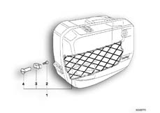 Goto diagram: BMW Classic Motorbike Model K 100 RS 83 (0502,0503,0513)( ECE ), Category 46.20 Luggage net :: Diagram: 46S0274