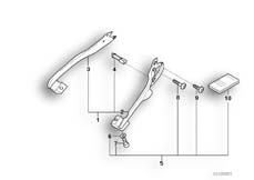 Goto diagram: BMW Classic Motorbike Model K 1200 RS 97 (0544,0554)( ECE ), Category 46.54 SET CASE HOLDER :: Diagram: 46_0005