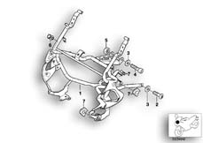 Goto diagram: BMW Classic Motorbike Model K 1200 RS 97 (0544,0554)( ECE ), Category 46.63 FAIRING BRACKET :: Diagram: 46_0009