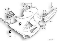 Goto diagram: BMW Classic Motorbike Model K 1200 RS 97 (0544,0554)( ECE ), Category 46.63 Fairing side section :: Diagram: 46_0010