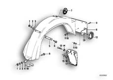 Goto diagram: BMW Classic Motorrad Modell R 80 ST( USA ), Category 46.30 Wheel cover, rear :: Diagram: 46_0019