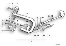 Goto diagram: BMW Classic Motorbike Model R 100 GS PD( ECE ), Category 46.70 Safety bar :: Diagram: 46_0020