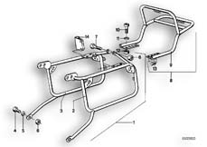 Goto diagram: BMW Classic Motorbike Model R 75 /7( ECE ), Category 46.20 SET CASE HOLDER :: Diagram: 46_0027