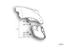 Goto diagram: BMW Classic Motorbike Model R90/6( ECE ), Category 46.30 Set mud flaps, rear :: Diagram: 46_0031