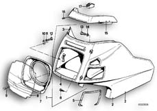 Goto diagram: BMW Classic Motorbike Model R65T( ECE ), Category 46.40 CASING UPPER PART/DASHBOARD :: Diagram: 46_0033