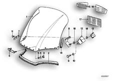 Goto diagram: BMW Classic Motorbike Model R65T( ECE ), Category 46.55 Windscreen :: Diagram: 46_0034
