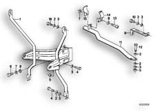 Goto diagram: BMW Classic Motorbike Model R 80 RT( ECE ), Category 46.35 TRIM PANEL-BRACKET :: Diagram: 46_0035