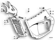 Goto diagram: BMW Classic Motorbike Model R65T( ECE ), Category 46.40 ENGINE TRIM PANEL :: Diagram: 46_0036