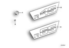 Goto diagram: BMW Classic Motorbike Model R65( USA ), Category 46.75 BATTERY COVER-STICKER :: Diagram: 46_0039