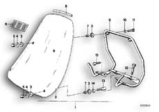 Goto diagram: BMW Classic Motorbike Model R65( USA ), Category 46.55 Windscreen :: Diagram: 46_0040