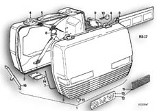 Goto diagram: BMW Classic Motorbike Model R 75 /7( ECE ), Category 46.20 TOURING CASE :: Diagram: 46_0044