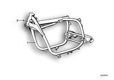 Goto diagram: BMW Classic Motorbike Model R75/5( ECE ), Category 46.05 FRONT FRAME :: Diagram: 46_0046