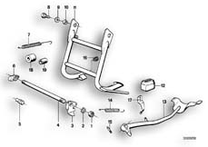 Goto diagram: BMW Classic Motorbike Model R75/5( ECE ), Category 46.10 Centre stand :: Diagram: 46_0047