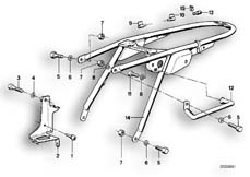 Goto diagram: BMW Classic Motorbike Model R75/5( ECE ), Category 46.05 REAR FRAME :: Diagram: 46_0048