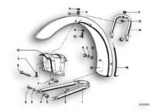 Goto diagram: BMW Classic Motorbike Model R75/5( ECE ), Category 46.25 Mudguard front :: Diagram: 46_0049