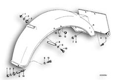 Goto diagram: BMW Classic Motorbike Model R90/6( ECE ), Category 46.30 REAR MUDGUARD MOUNTING PARTS :: Diagram: 46_0051