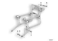 Goto diagram: BMW Classic Motorbike Model R 75 /7( ECE ), Category 46.20 SET CASE HOLDER :: Diagram: 46_0055