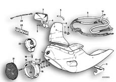 Goto diagram: BMW Classic Motorbike Model R 75 /7( ECE ), Category 46.40 FULL FAIRING/MOUNTING PARTS :: Diagram: 46_0063