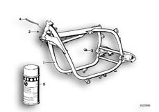 Goto diagram: BMW Classic Motorbike Model R 100 RS( ECE ), Category 46.05 FRONT FRAME :: Diagram: 46_0070