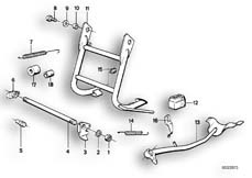 Goto diagram: BMW Classic Motorbike Model R 80 RT( USA ), Category 46.10 COLLAPSIBLE STAND/SIDE STAND :: Diagram: 46_0071