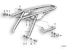 Goto diagram: BMW Classic Motorbike Model R65( USA ), Category 46.05 REAR FRAME :: Diagram: 46_0074
